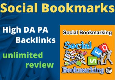 20 Social Bookmark Do follow High Authority Permanent Backlinks unique link Building