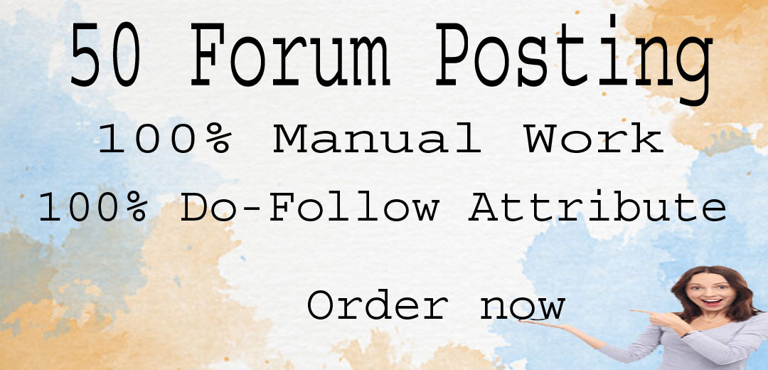 50 Forum Posting for your website
