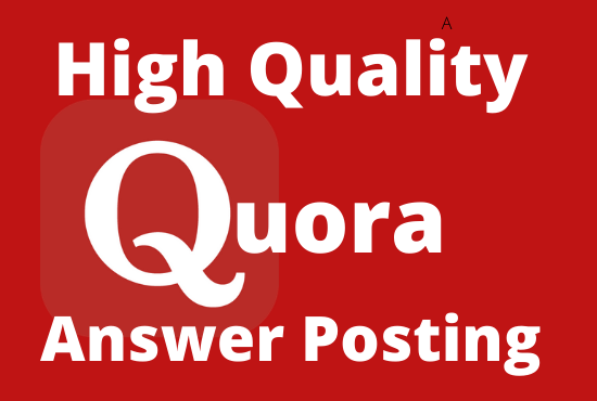Provide 3 Unique High Quality Quora Answer With Your Keyword & URL