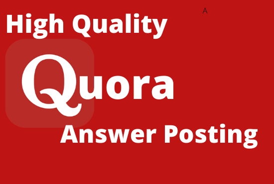 I will promote 10 Unique High Quality Quora Answer With Your Keyword & URL