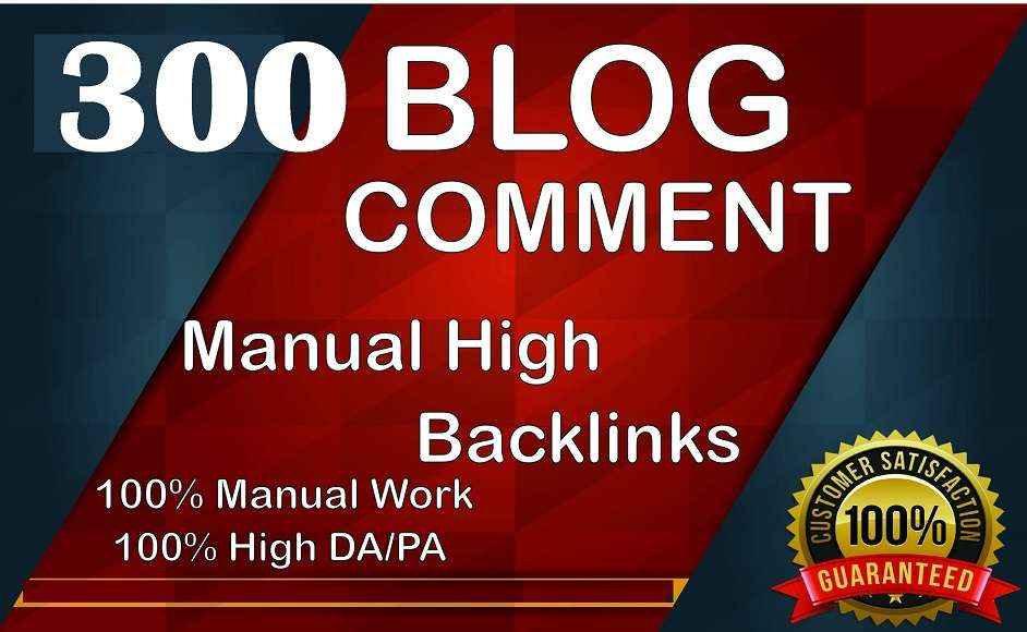 I will Create Manually 300 Blog Comments Panda & Penguin Safe Backlinks