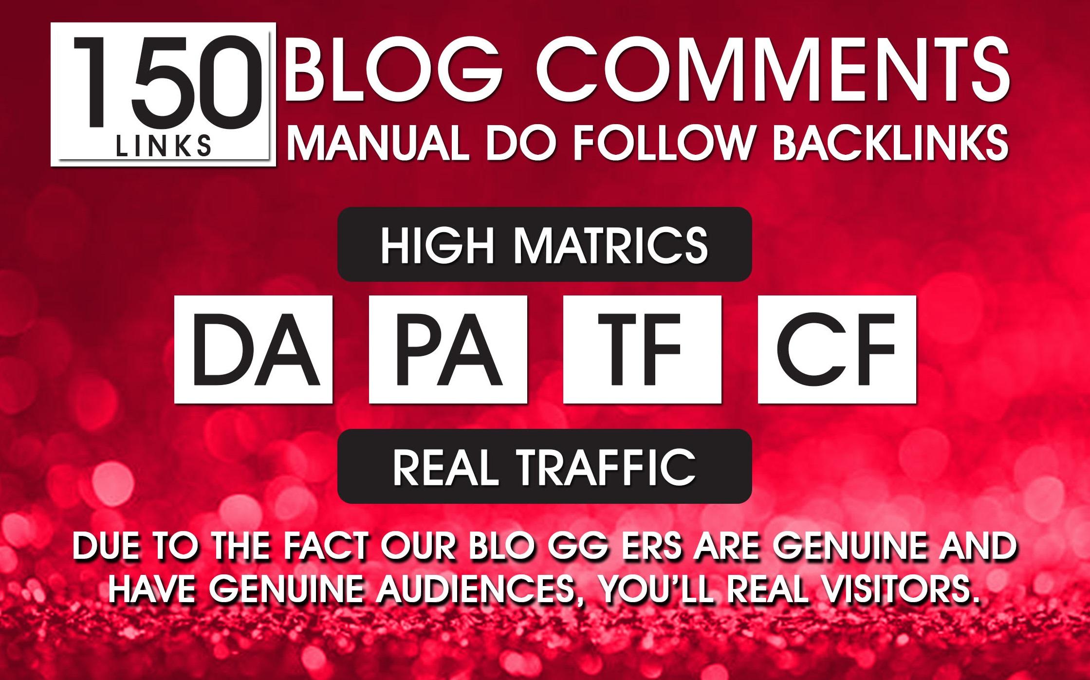 I will 150 Blog Comments Panda & Penguin Safe Backlinks High Quality