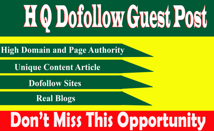 Manually Create 01 high quality guest posts dofollow backlinks