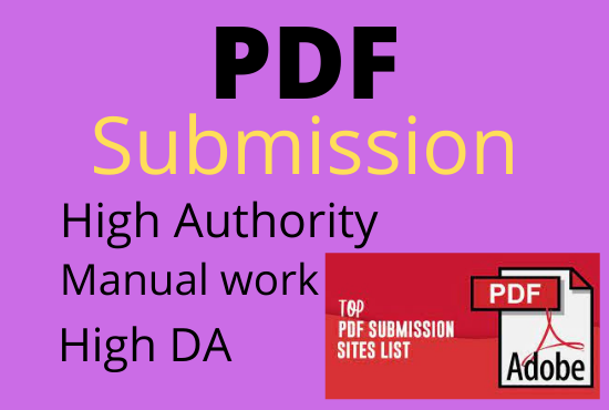 I will do PDF Submission to 25 High DA PA for GOOGLE rank