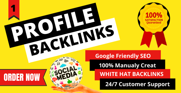 Manual 30 HQ Profile Backlinks on authority websites with white hat techniques