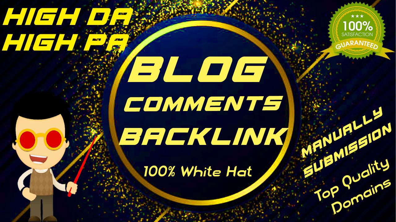 I will provide 100 unique blog comments with unique domain