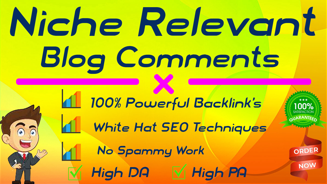 I will provide 50 high quality niche relevant blog comments