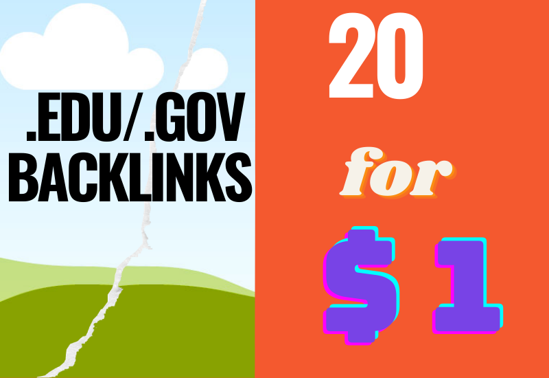 20 High Quality. edu/. gov Backlinks from 70+ Authority Domains