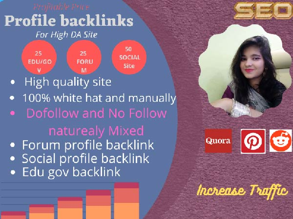 I Will Manually Provide High Authority 25 EDU/GOV, 25 FORUM and 50 SOCIAL Profile Backlinks