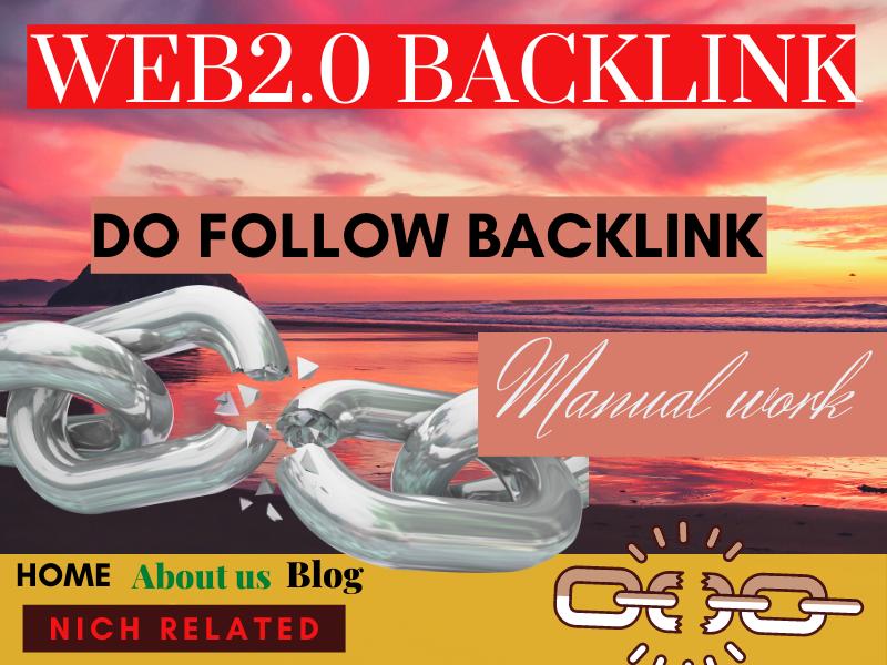 I will Create 30 Web2.0 High DA Do-follow Backlinks permanent link building