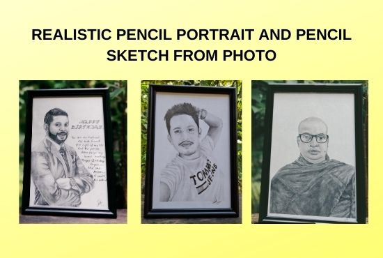 I wil draw arealistic pencil sketch potrait from your photo