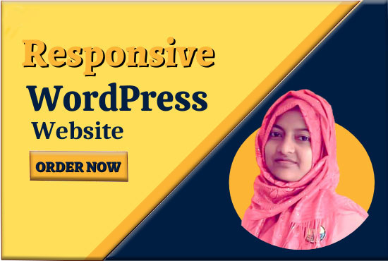 I will create or design responsive WordPress website also redesign