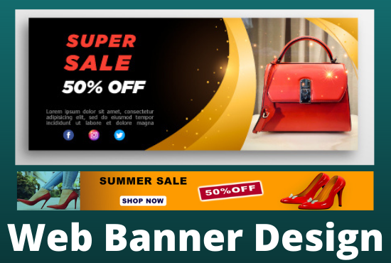 I will design attractive web banner, facebook banner or ads