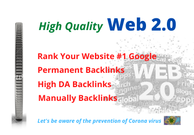 I will Create Manually 30 High authority web 2 0 backlinks for top SEO in Google Ranking