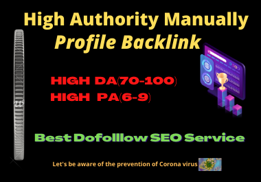 I will manually backlink 30 profiles for high authority SEO link building