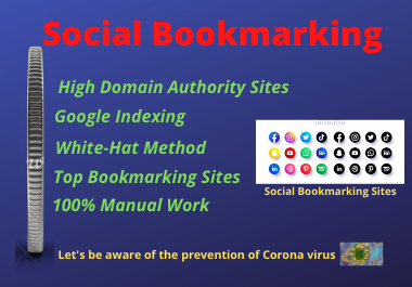 I will manually create 30 social bookmarking backlinks to increase the top rank of the website