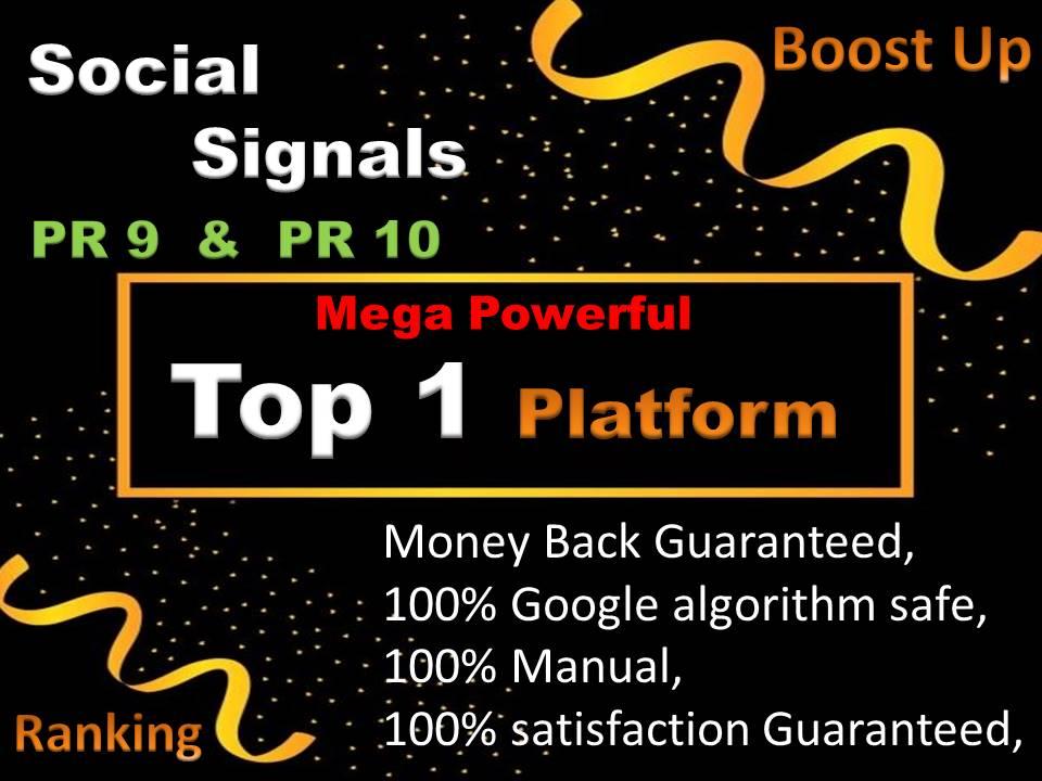 Top 1 Social Network 5000 Social Signals H-Q PR10 Backlink Pinterest To Your Website