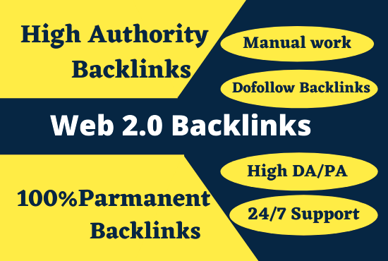 I will build 20 high quality permanent super web 2.0 Dofollow backlinks