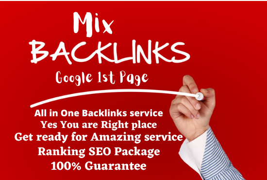 I will do unique domain SEO 100 mix backlinks bump your site on 1st page of google
