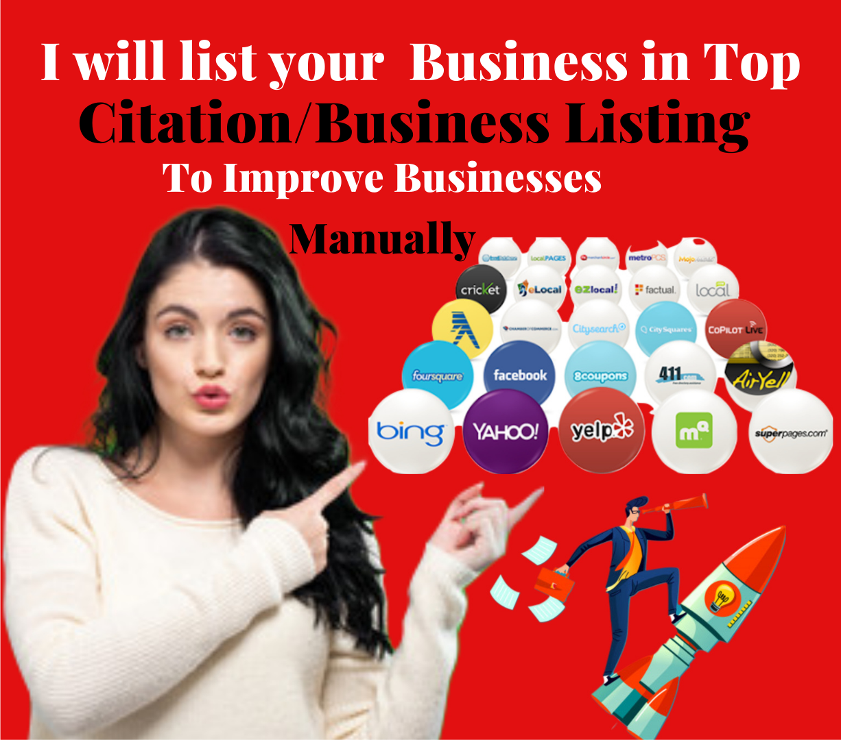 High Quality Manual 20 Live Local Business Listing for your Local Business Ranking.