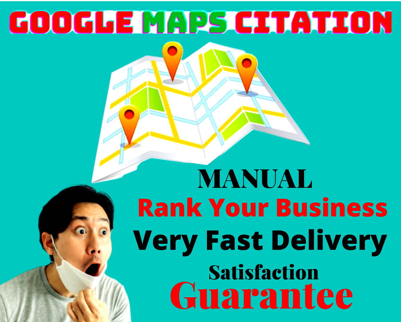 Premium 250 high quality local map point citations Standard Package