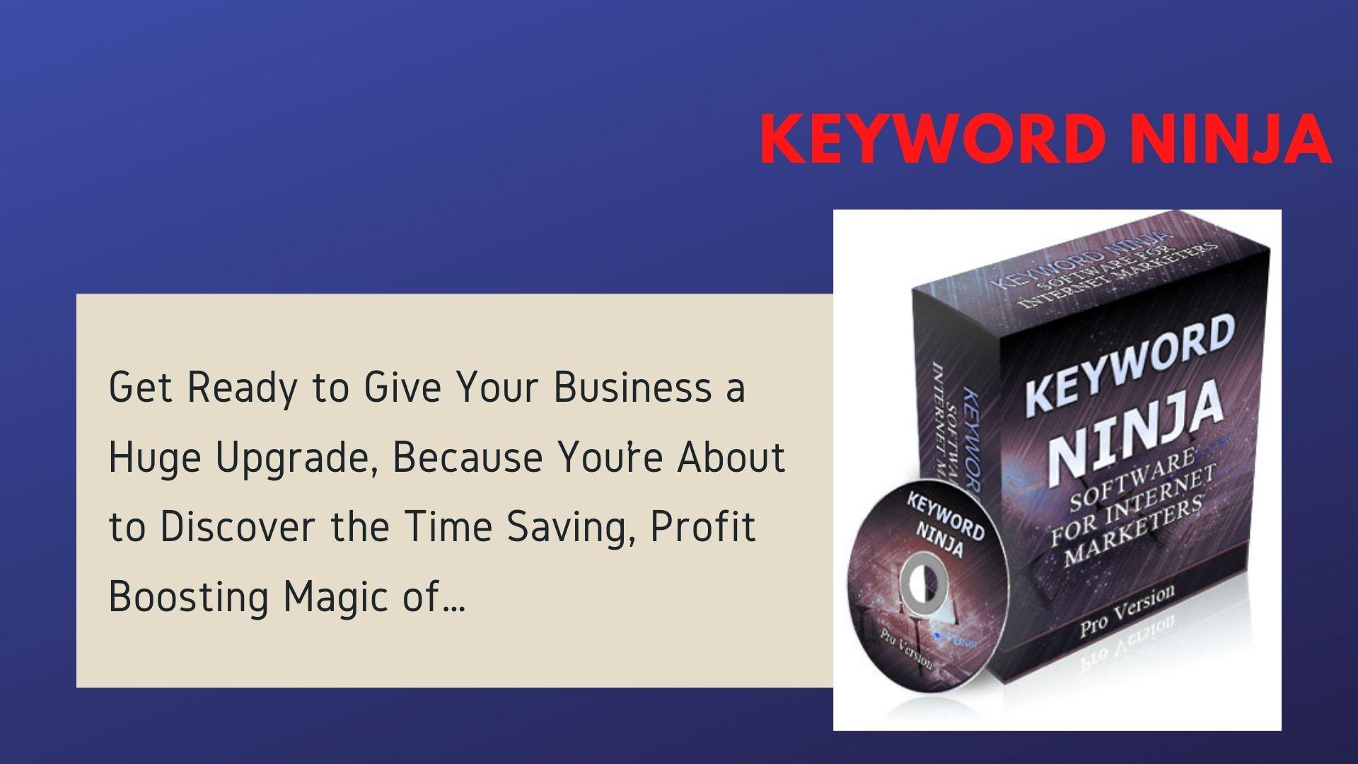 Keyword Ninja Software for Internet Marketers