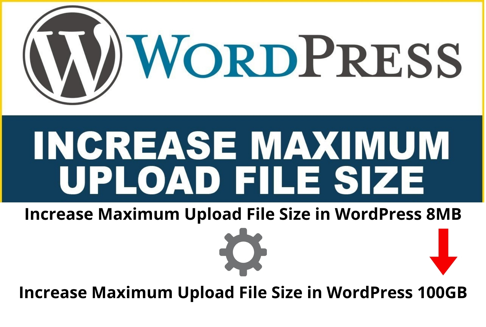 Increase the Maximum Upload File Size in WordPress From 8 MB to 100 GB