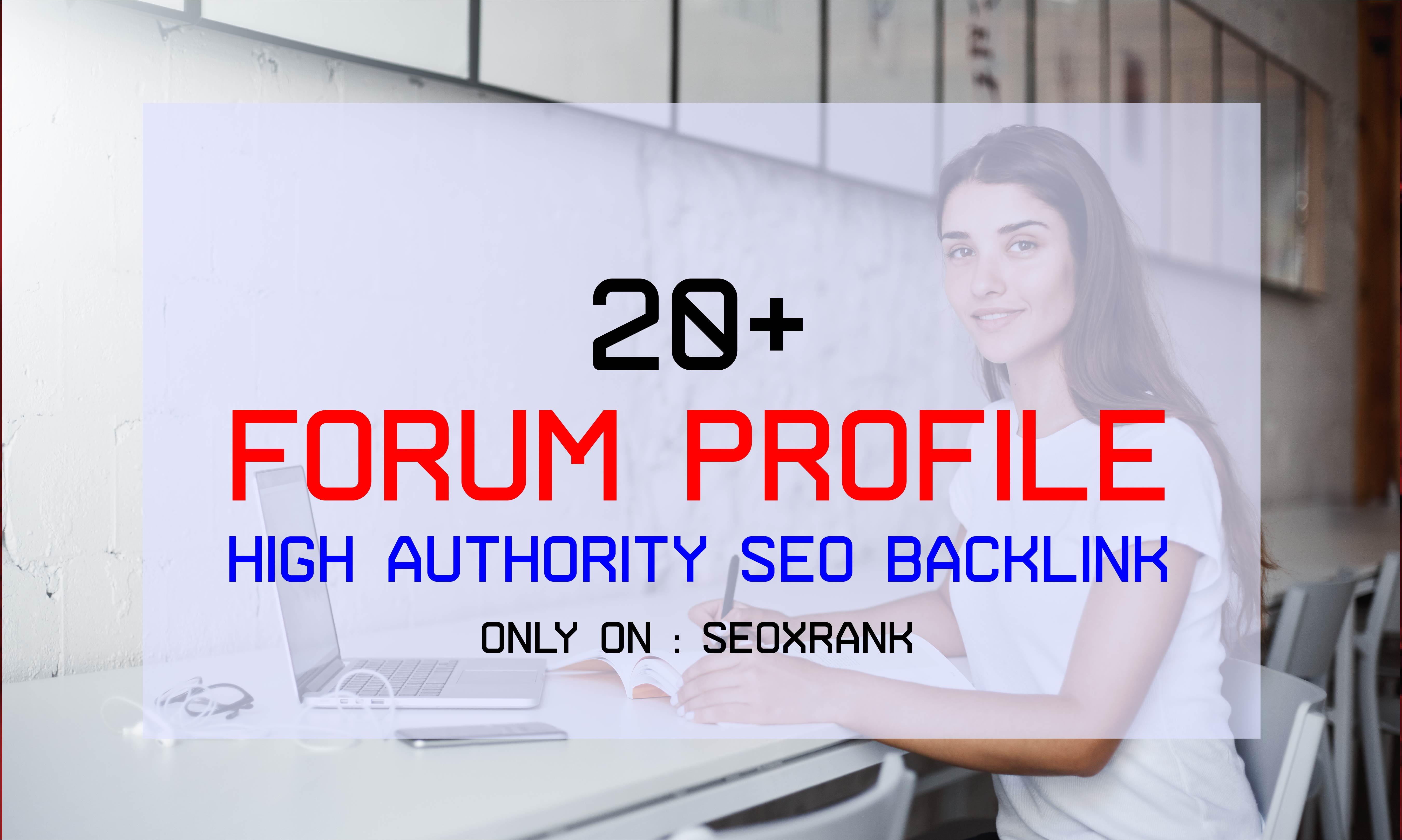 Safe 20+ Forum Profile Backlinks DA50-DA100 - Skyrocket Your Website on Google