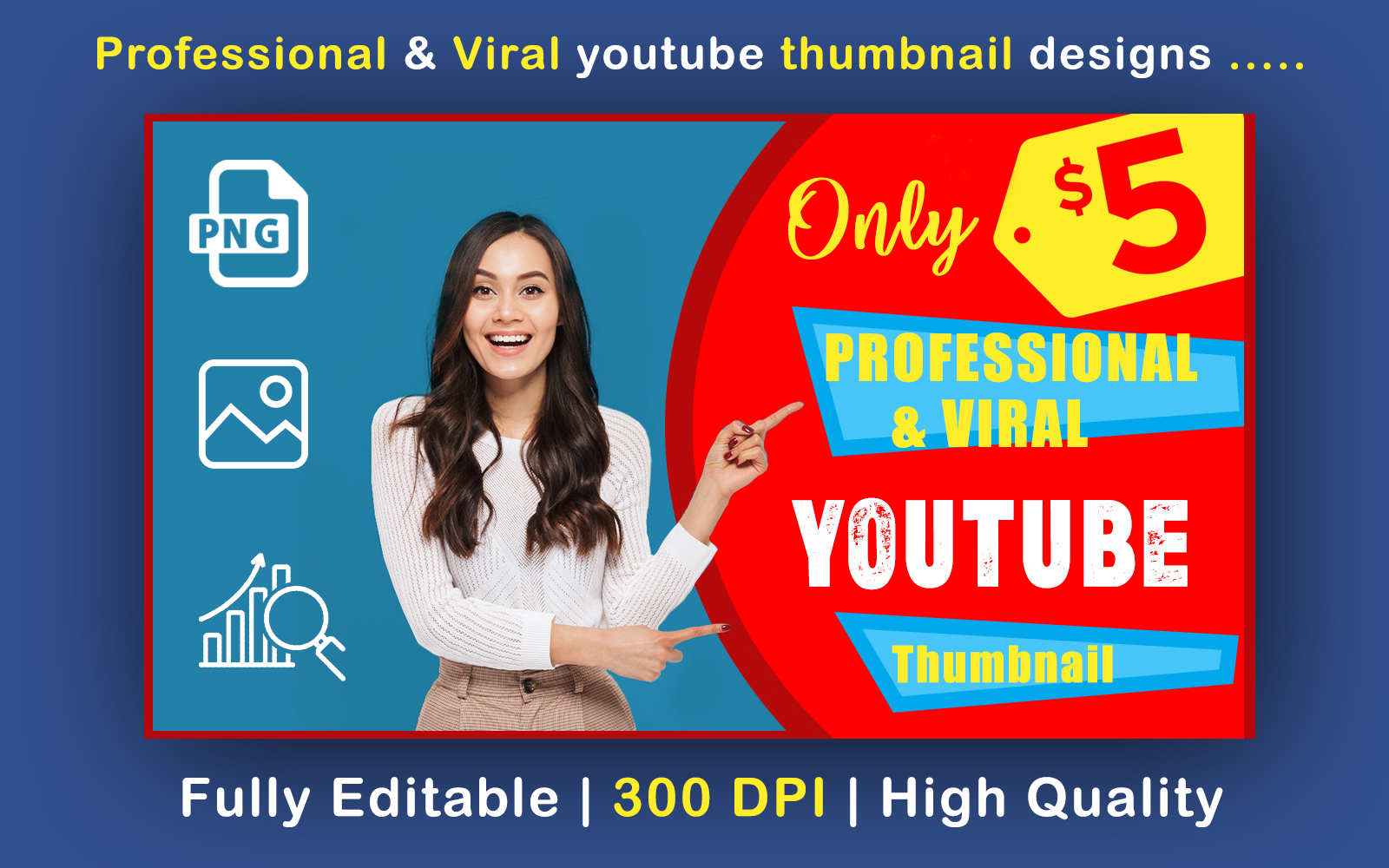 I will design for you viral Youtube thumbnails