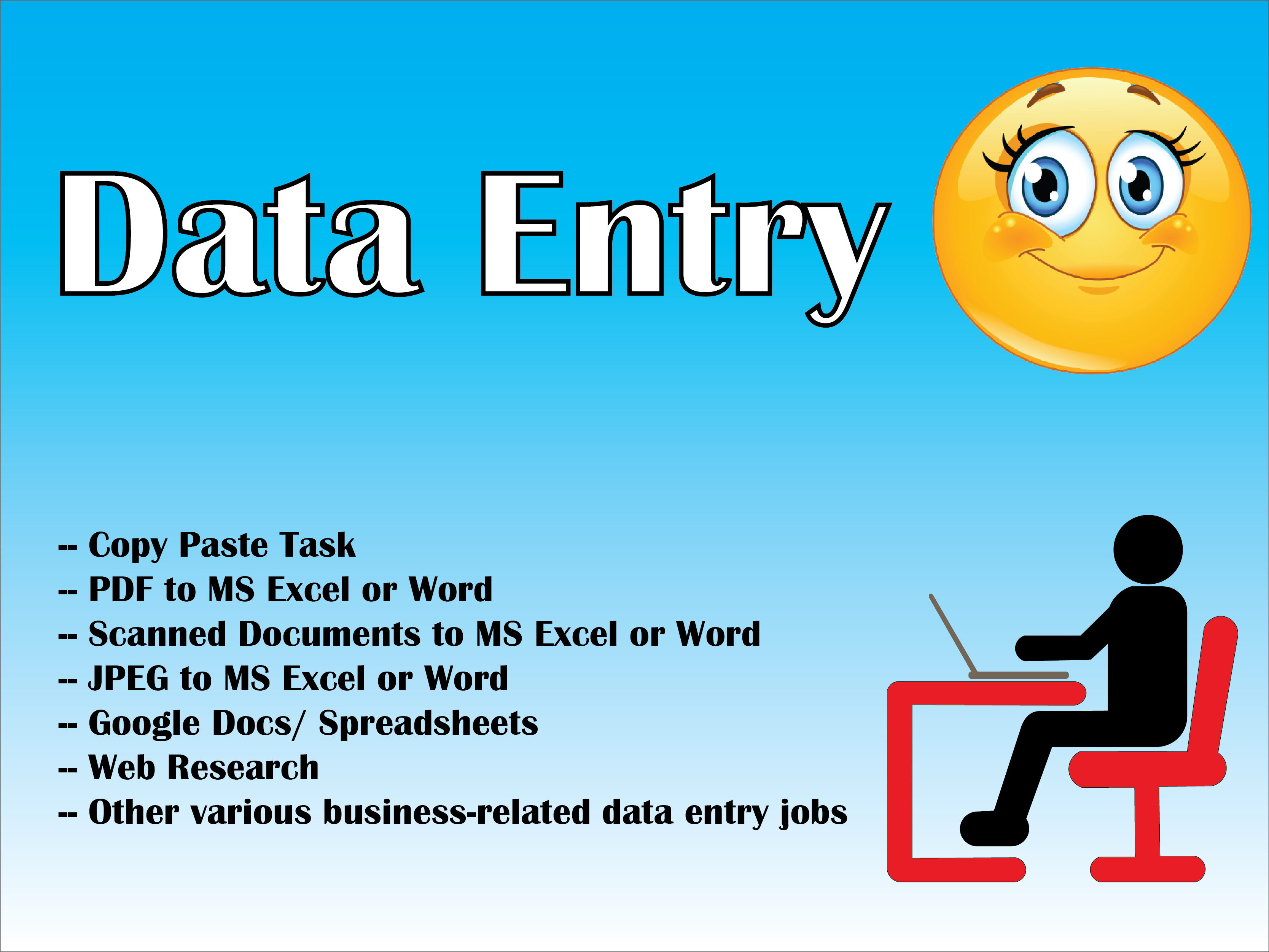 I Will do Professional Data Entry Service,  Convert pdf to word or excel