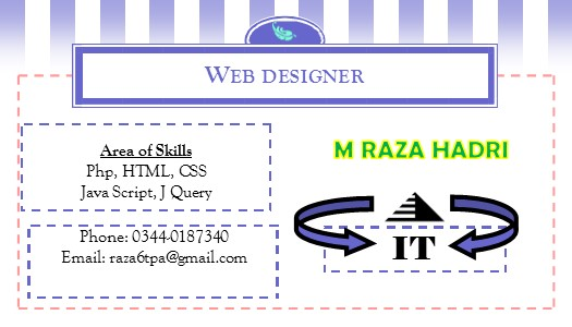 I will make your and your business visiting card