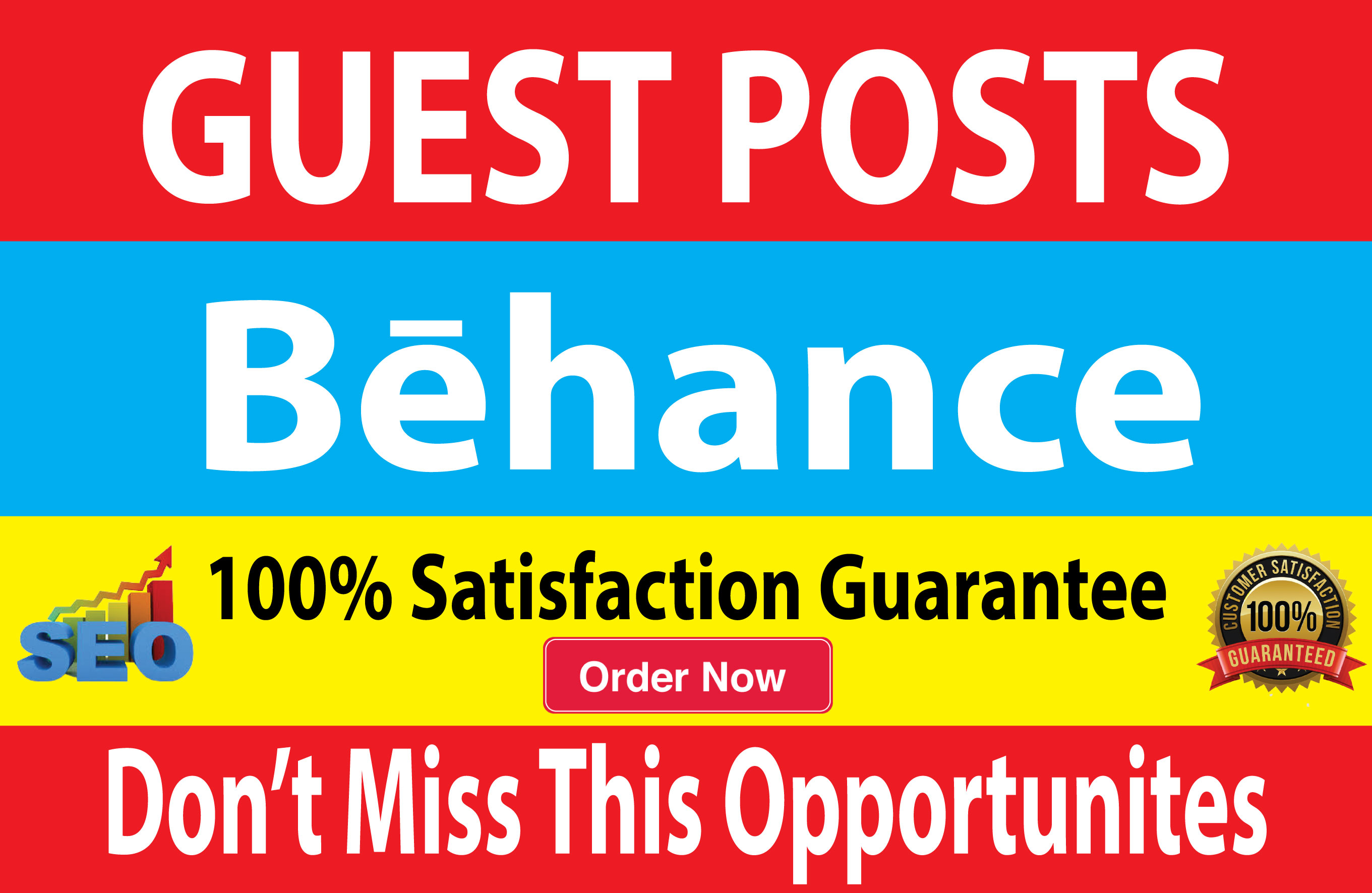 Write and Publish A Guest Post On Behance,  DA 90 & PA 81