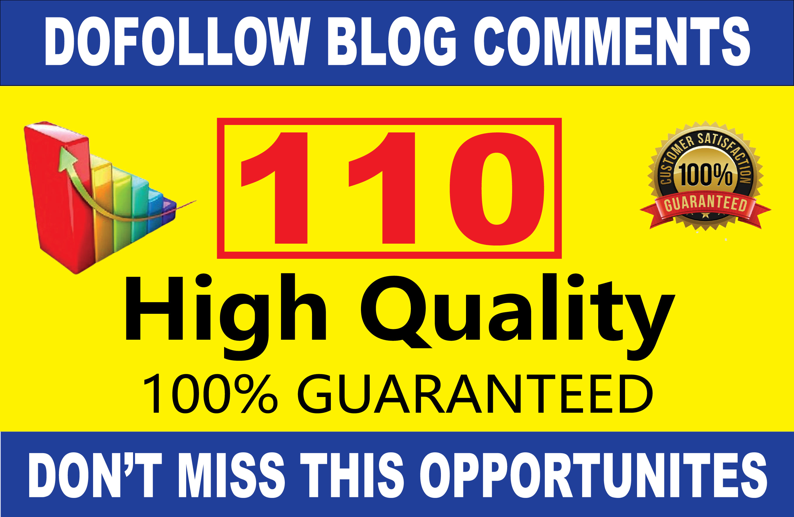 Build 110 High Quality DA Sites Dofollow Blog comments Backlinks