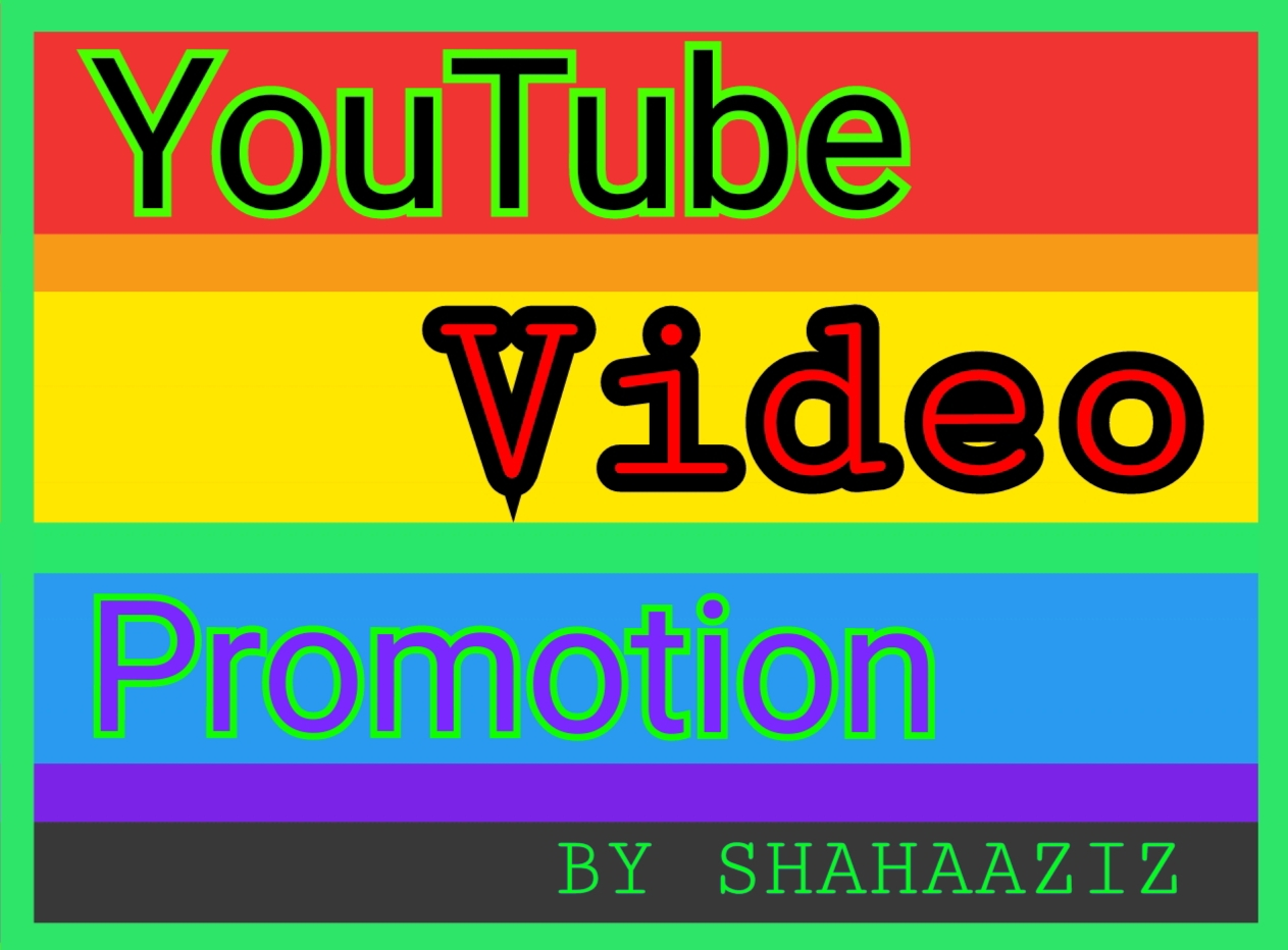 I Will Do Instant Start YouTube Video Promotion Service By Shahaaziz