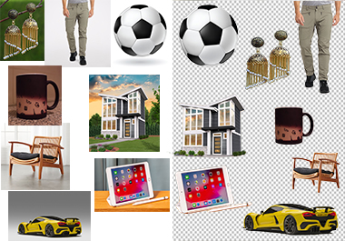 I will do Any products background removal from 30 images