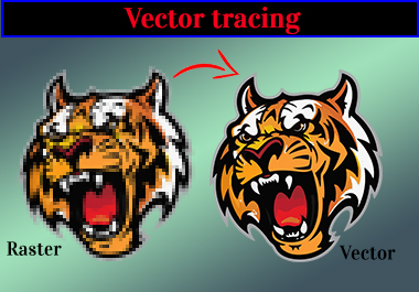 I will convert raster to vector, vectorize, redraw your logo