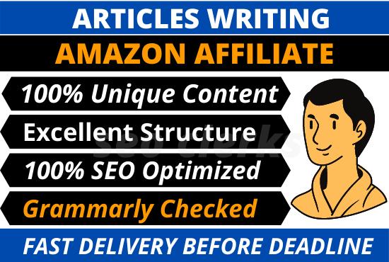 I will write SEO friendly amazon affiliate articles