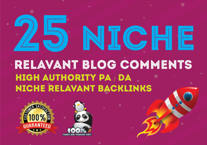 I will provide 25 niche relevant blog comments