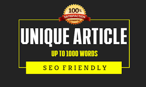 1000 words unique Article writing/Content writing
