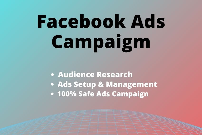 I will be your Facebook ads campaign manager