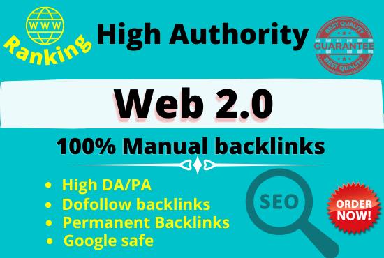 I will create Website Ranking Google Safe Working 30 high da pa Web 2.0
