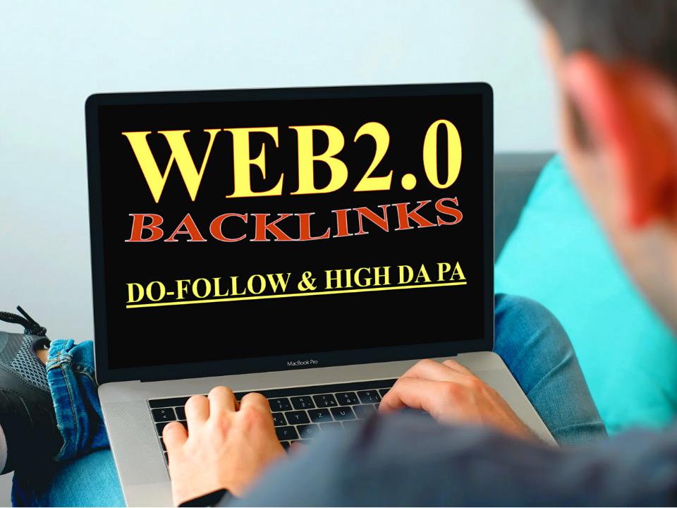 I will create 50 manual authority web 2.0 backlinks