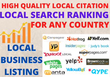 High-Quality Manual 20 Local Citation For Any Country and Directory Submission for Business Ranking