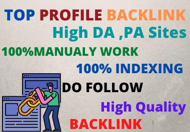 TOP 30 Profile Backlinks high authority website permanent backlinks