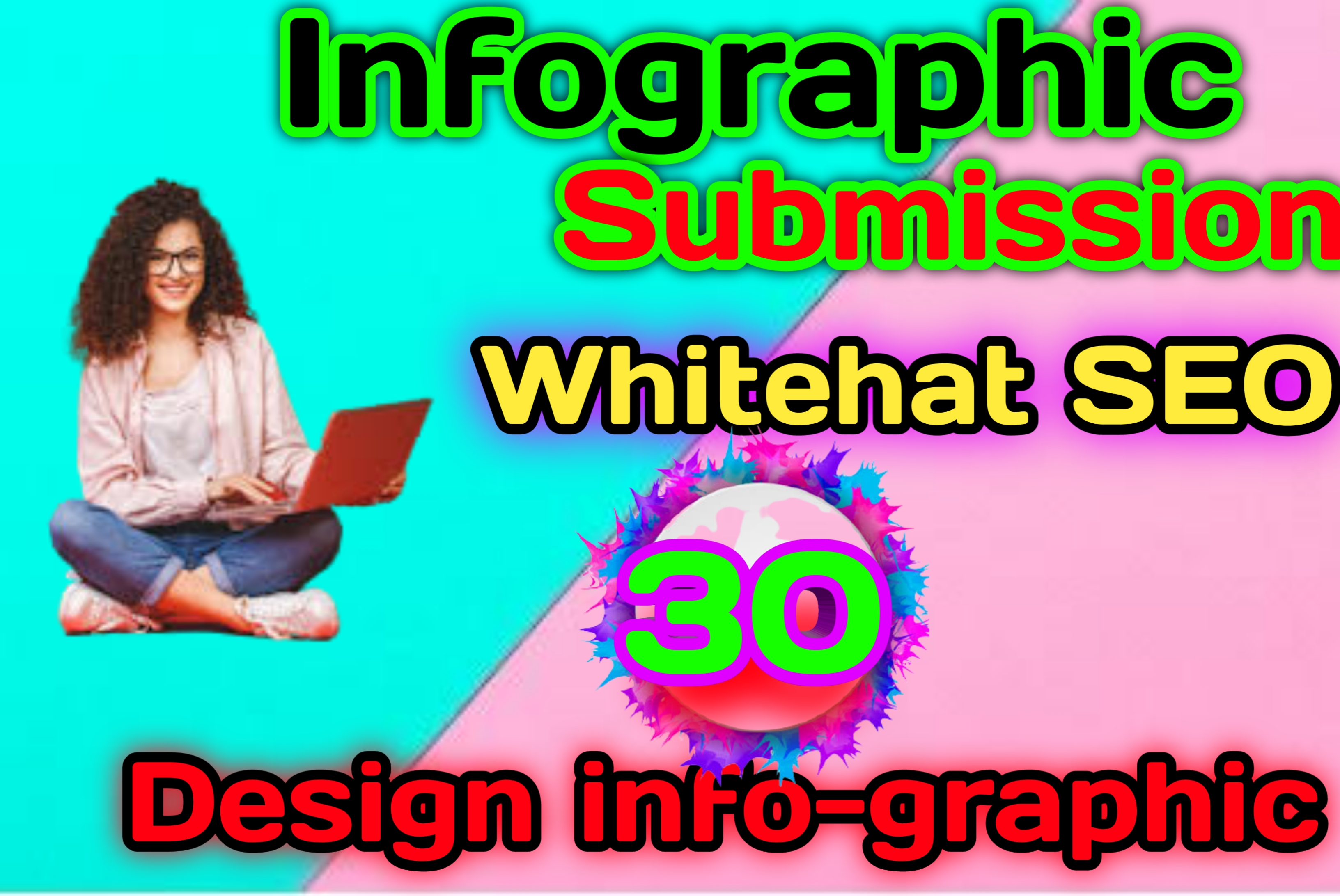 I do 30 Design infographic and manually submit on High DA/image submission sites