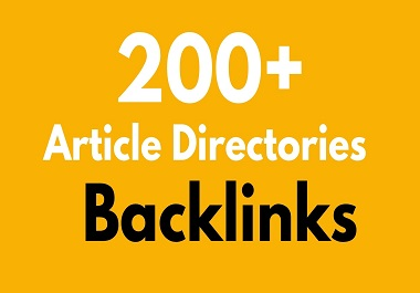 I will 200 article directories high quality backlinks