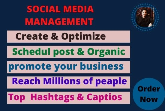 I will be your social media marketing manager and content