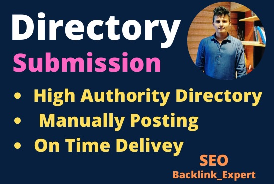 i will do 160 High Authority Directory Sumissions