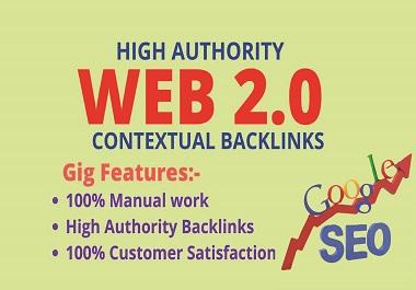 I will do authority 500+ web 2.0 contextual backlinks
