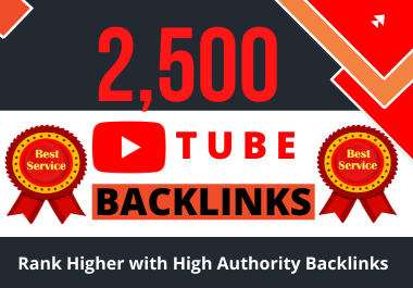 I will create a YouTube promotion of videos with 2,500 high-quality backlinks